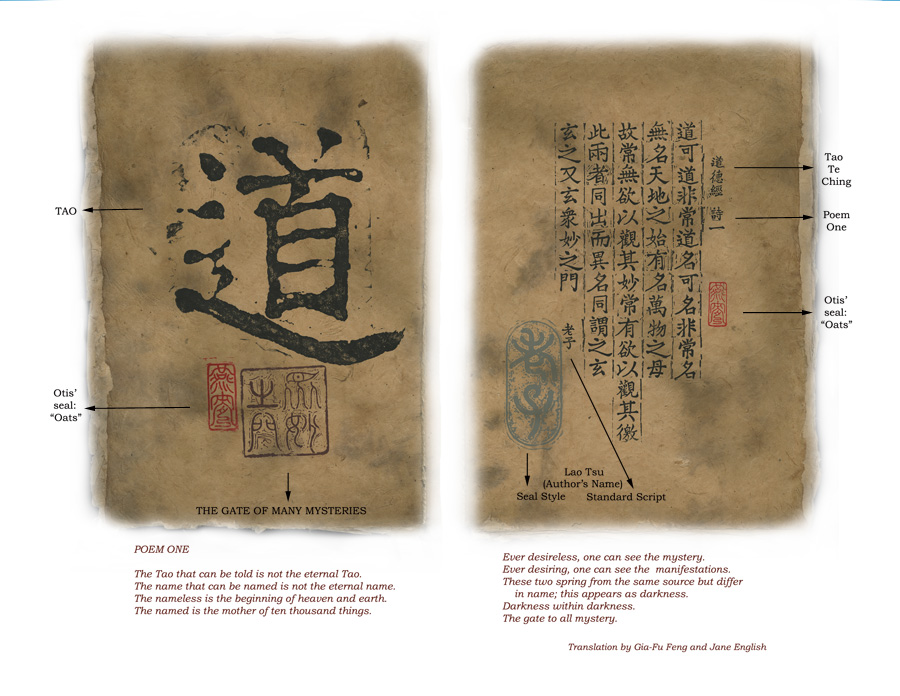 Translation of Page One - Poem One of the Tao Te Ching